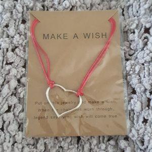 💗Make a Wish (2/$24) Heart Bracelet